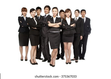 A team of business people