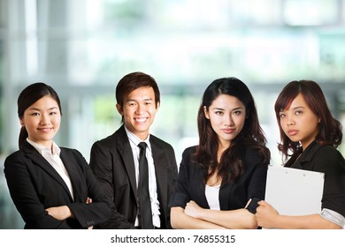 Team of Business people in a corporate environment