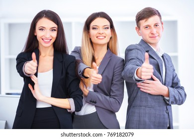 Team Of Business People Working In Office.