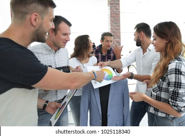 team of designers discussing the color palette