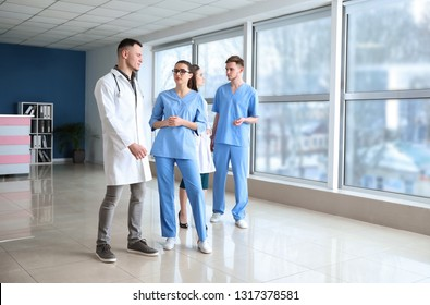Team of doctors in clinic