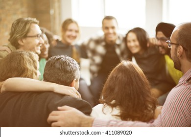 Team Huddle Harmony Togetherness Happiness Concept