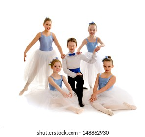 A Team of Junior Ballet Dancers in Recital Costume