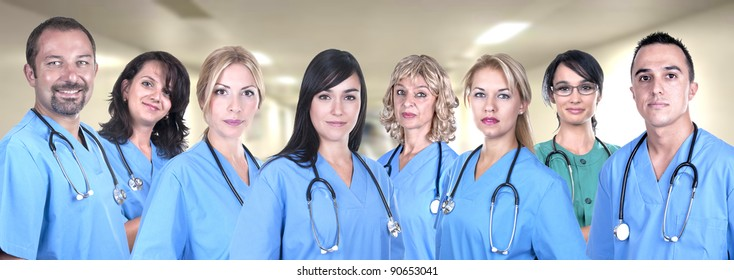 Team of medical professionals in hospital
