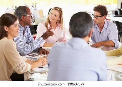 Team Meeting In Creative Office