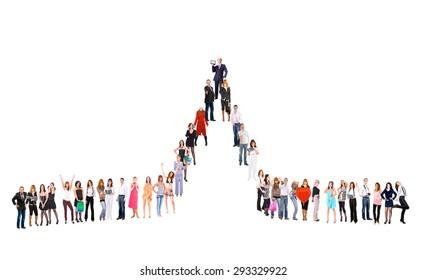Team over White Corporate Teamwork