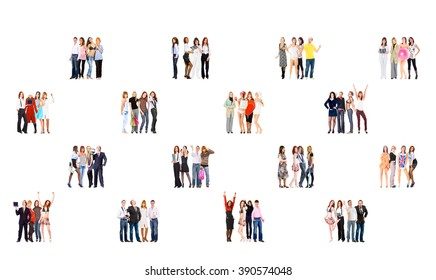 Team over White People Diversity  - Shutterstock ID 390574048