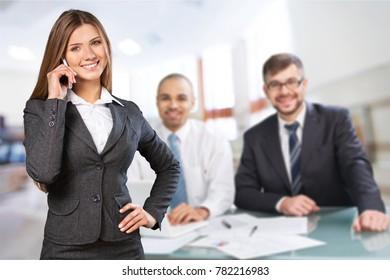 Team people in office