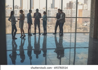 team of successful business people