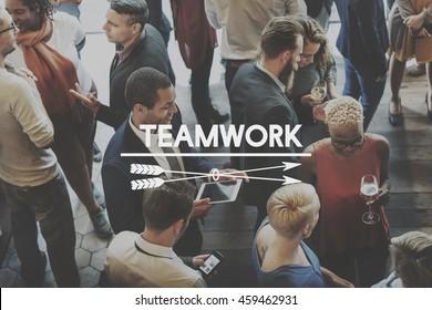Team Teamwork Teambuilding Synergy Empower Concept