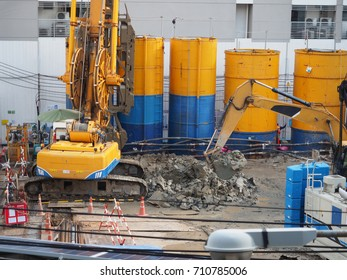 team of worker are working in construction area