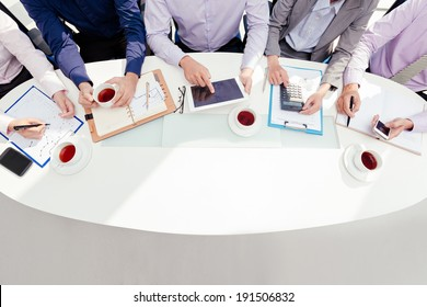 Team working on business project