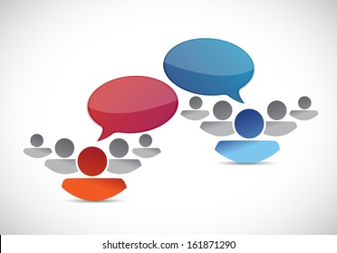 teams communication illustration design over a white background