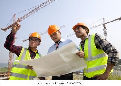 Teamwork building construction