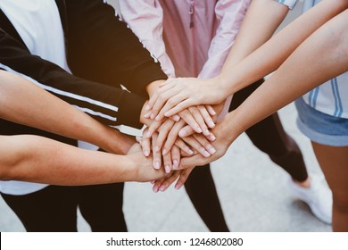 Teamwork is a combination of hands. Is a large group of people who have the work efficiency. Show unity as a collaborative work together. To succeed, one has to understand each other in communication.