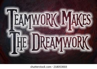 Teamwork Concept text on background
