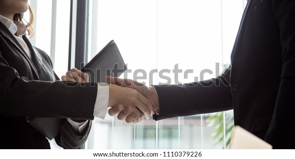 Teamwork Deal Cooperation business people shaking hands