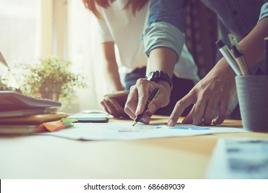 Teamwork helps us select the best information. To bring to customers to use in successful work. Quality work concept, vintage effect.