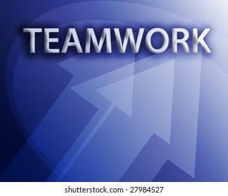 Teamwork illustration, abstract management success concept clipart