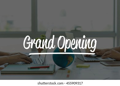 TEAMWORK OFFICE BUSINESS COMMUNICATION TECHNOLOGY  GRAND OPENING GLOBAL NETWORK CONCEPT