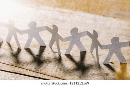 Teamwork Paper people row