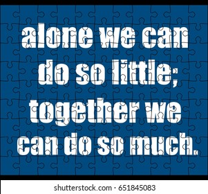 Teamwork quotes in jigsaw puzzle
