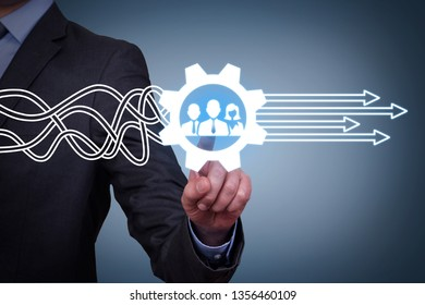 Teamwork Solutions Concepts on Visual Screen