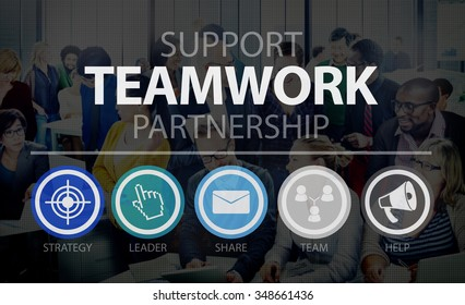 Teamwork Support Partnership Collaboration Unity Concept
