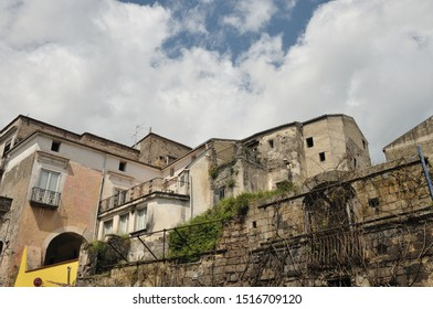 Teano, Caserta, Campania. Town of pre-Roman origins, located on the slopes of the volcanic massif of Roccamonfina.  View of the historic center.