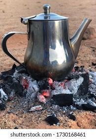 teapot on fire in sahara desert