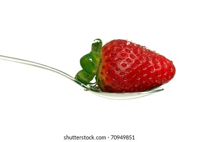 teaspoons with strawberry