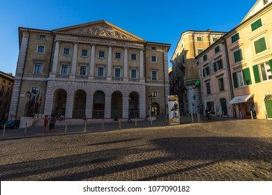 Teatro delle Muse is the main theatre and opera house in Ancona. Ancona, Marche, Italy, August 2017