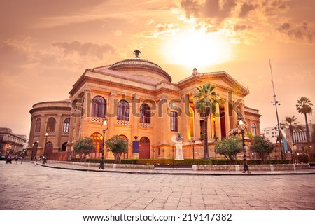 Teatro Massimo Opera House Palermo Sicily Stock Photo (Edit Now ...
