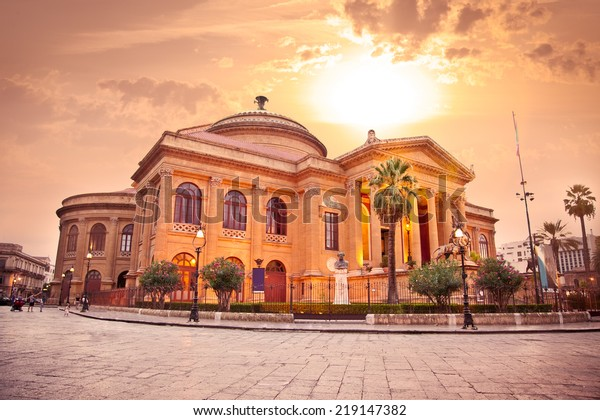 Teatro Massimo Opera House Palermo Sicily Stock Photo (Edit ...