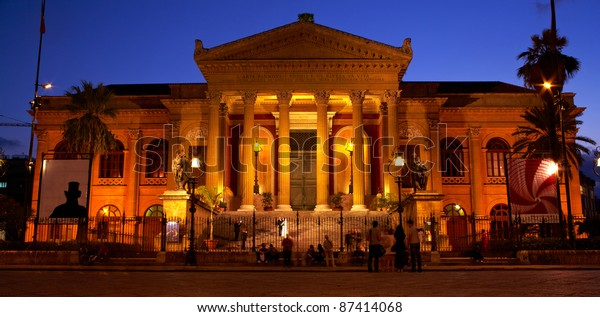 Teatro Massimo Opera House Palermo Italy Stock Photo (Edit ...
