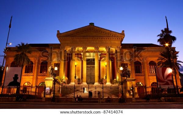 Teatro Massimo Opera House Palermo Italy Stock Photo (Edit Now) 87414074