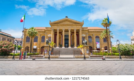 The Teatro Massimo in Palermo. Sicily, southern Italy.
