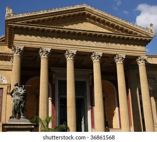 The Teatro Massimo in Palermo, the third biggest theater in Europe