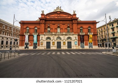 The Teatro Petruzzelli, the largest theatre of Bari and the fourth Italian theatre by size. Bari, Apulia, Italy, August 2017