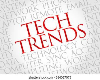 Tech Trends word cloud concept