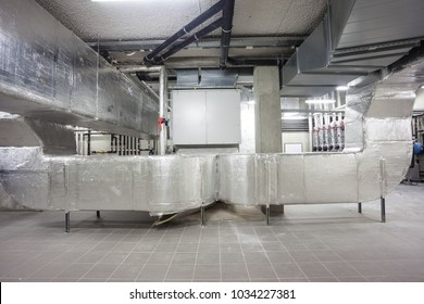 in the technical area, there are boosters for the water pipes and ventilation tubes of the building