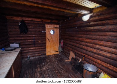 technical room in a wooden house