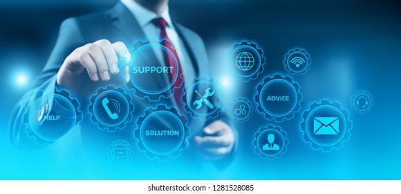 Technical Support Center Customer Service Internet Business Technology Concept.