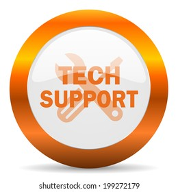 technical support computer icon on white background