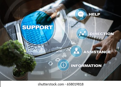 Technical support. Customer help. Business and technology concept.