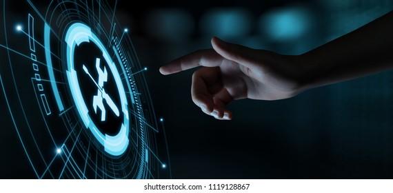 Technischer Support Kundenservice Business Technology Internetkonzept.