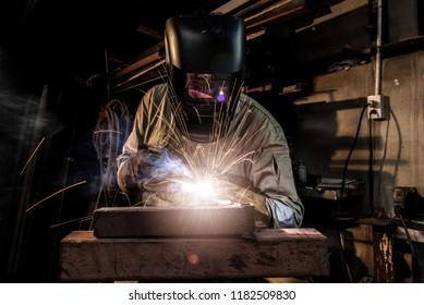 Technical Welders working in the factory