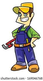technicians cartoon Illustration