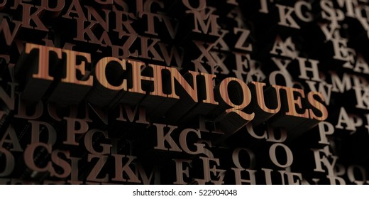 Techniques - Wooden 3D rendered letters/message.  Can be used for an online banner ad or a print postcard.