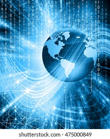 Technological background concept of global business.